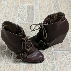 Fossil booties in a size 8